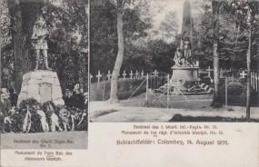 Schlachtfelder - Colombey - 14. August 1870 - Denkmäler 1910