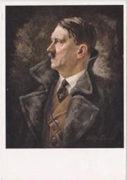 Hitler Porträt - nach einem Orgi. Gemälde von Willy Exner