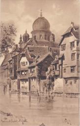 Nürnberg - Partie an der Insel Schütt- Synagoge