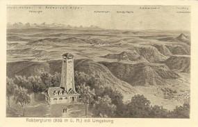 Roßbergturm (869m ü.M.) mit Umgebung
