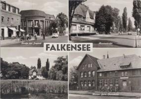 Falkensee - Straße der Jugend - Hansastraße - Maxim-Gorki-Oberschule