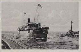 Ostseebad Kolberg - Heimkehrender Dampfer