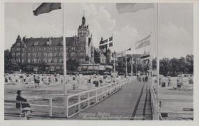 Ostseebad Kolberg - Kurhaus - Strandbadschloß mit Seebrücke