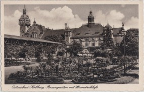 Ostseebad Kolberg - Rosengarten mit Strandschloß
