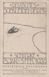 Schierke i. H. - Deutsches Bobsleigh Derby 1924