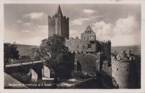 Burgruine Rudelsburg a. d. Saale 1939