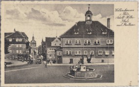Walteershausen i. Thür. - Adolf-Hitler-Platz mit Rathaus 1937