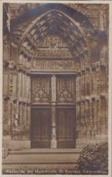 Langensalza - Westportal der Marktkirche St. Bonifacii 1937