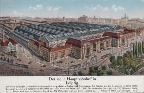 Leipzig - Der neue Hauptbahnhof 1912