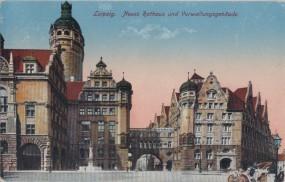 Leipzig - Neues Rathaus und Verwaltungsgebäude 1917