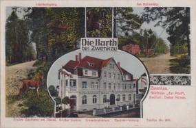 Die Harth bei Zwenkau - Gasthaus Zur Post - Hartheingang - Am Rennsteig 1916