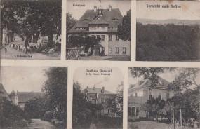 Gersdorf - Lindenalle - Gasthaus - Fernsicht nach Rossen 1920