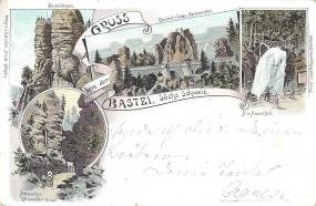 Gruss von der Bastei. sächs. Schweiz